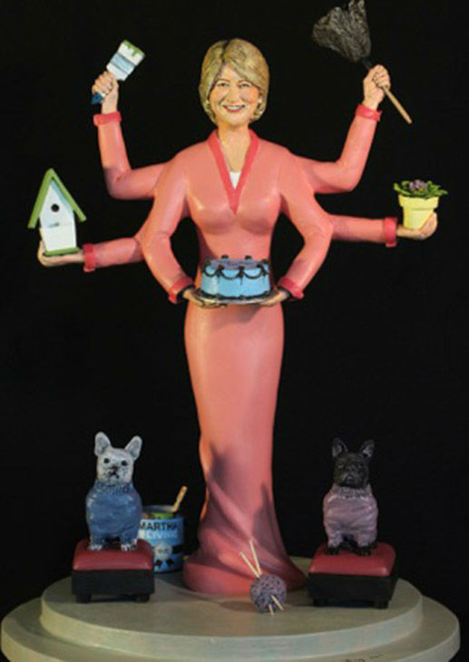 """<div class=""""meta image-caption""""><div class=""""origin-logo origin-image """"><span></span></div><span class=""""caption-text"""">A sculpture depicts Martha Stewart as a godess with multiple arms. (Laura Harling)</span></div>"""