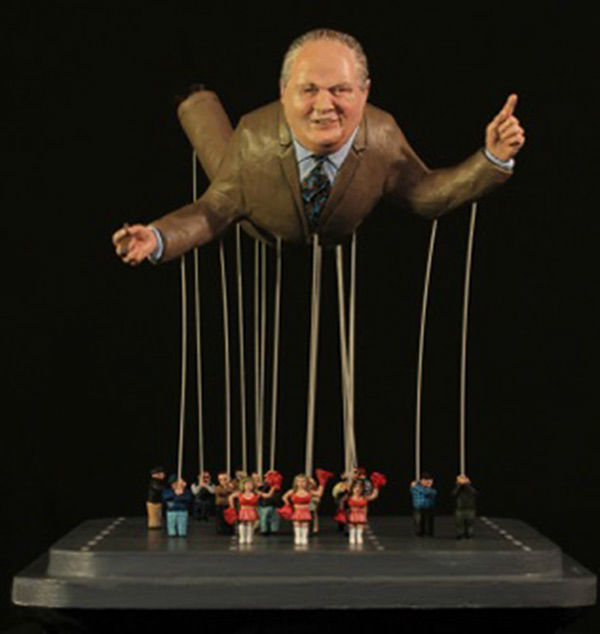 """<div class=""""meta image-caption""""><div class=""""origin-logo origin-image """"><span></span></div><span class=""""caption-text"""">A sculpture depicts Rush Limbaugh as a balloon in a New York parade. (Laura Harling)</span></div>"""