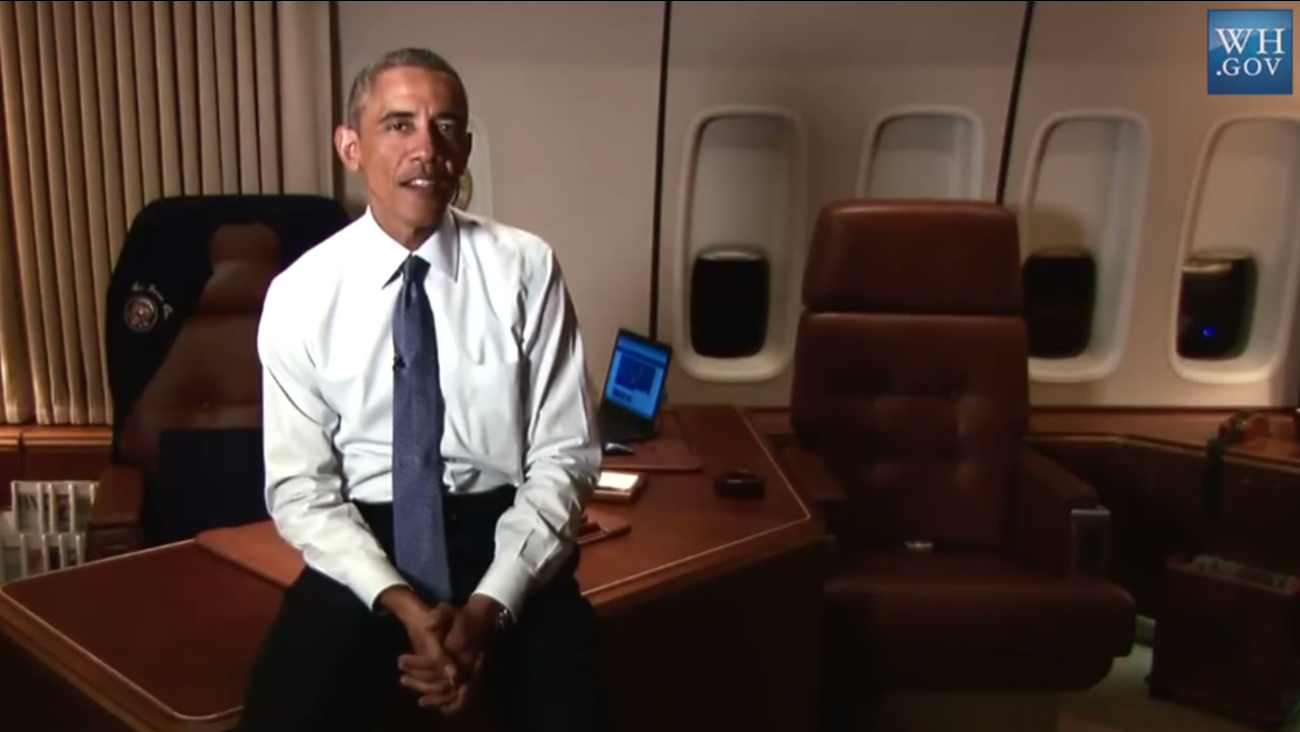 President Barack Obama speaks during a video posted to Facebook on Thursday, Jan. 8, 2015.