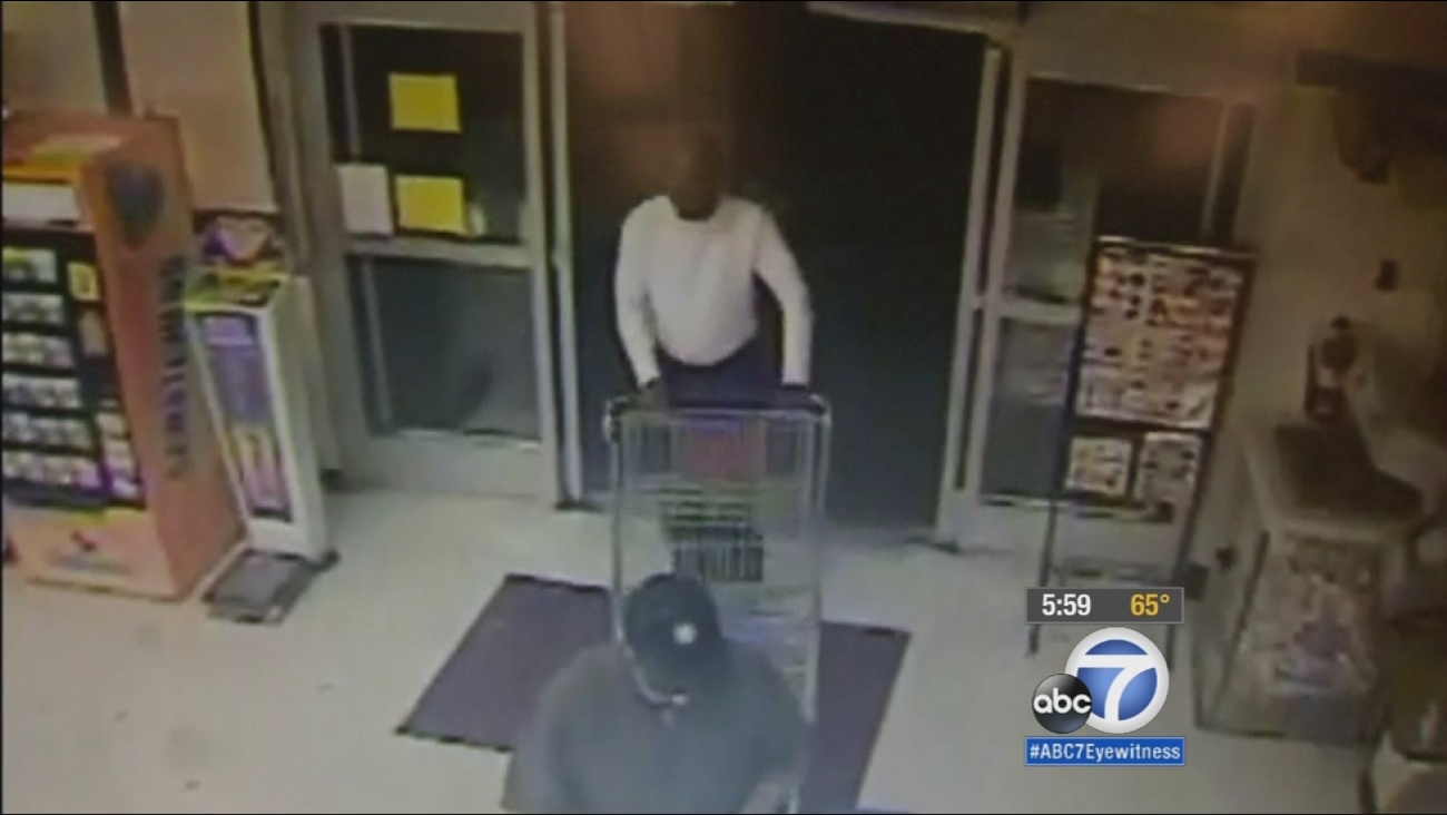 Surveillance video catches two men who attempted to purchase a 2-year-old boy for $100 on Wednesday, Jan. 7, 2015.