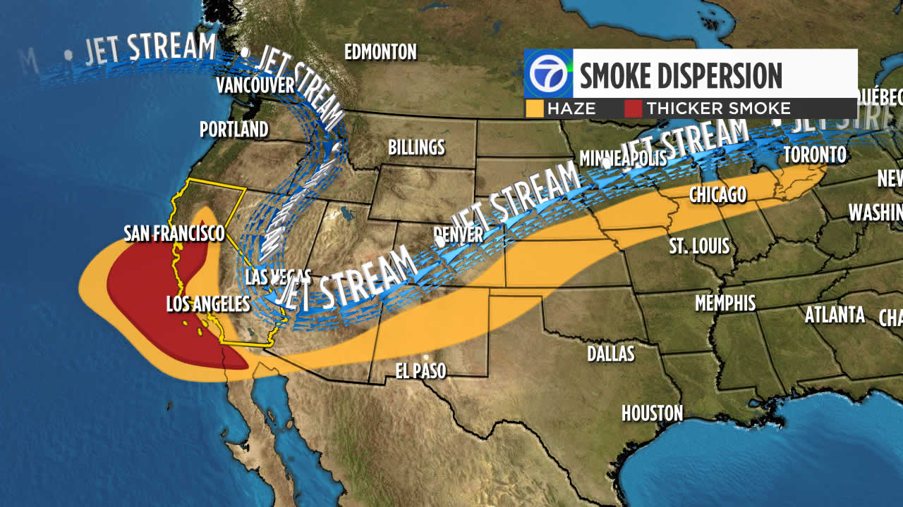 Smoke from California wildfires travels across US to Chicago