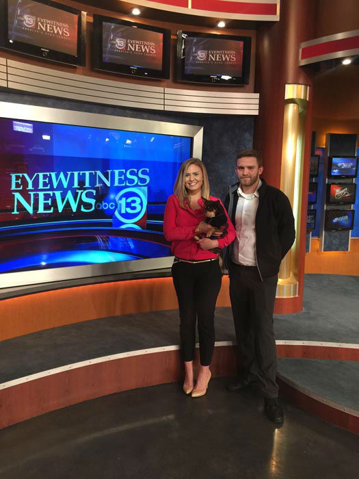 """<div class=""""meta image-caption""""><div class=""""origin-logo origin-image """"><span></span></div><span class=""""caption-text"""">Romeo's foster parents, brother & sister Amanda & Paul Luckey, are working to nurse the heartbroken Chihuahua back to health and find him a new forever home (KTRK Photo)</span></div>"""