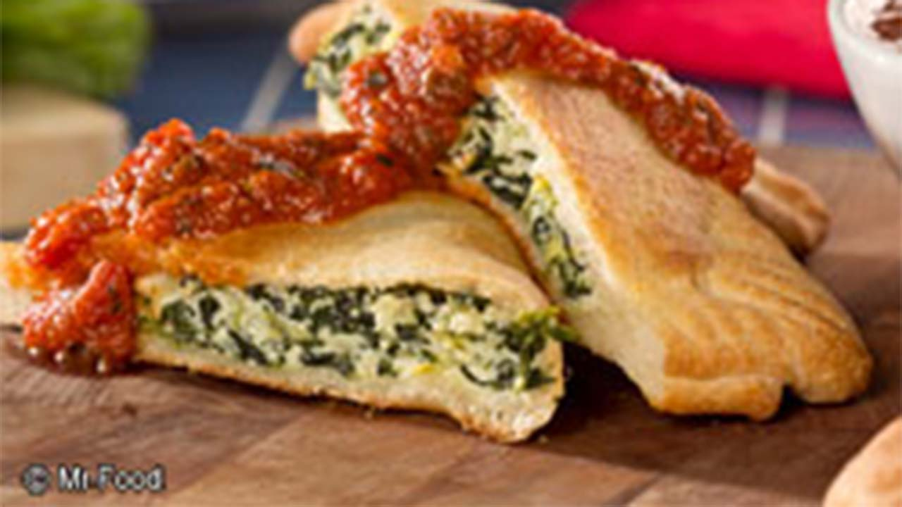 Spinach and Artichoke Calzones