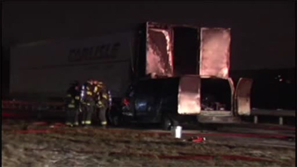 1 dead after van, tractor-trailer collide in Northampton Co.