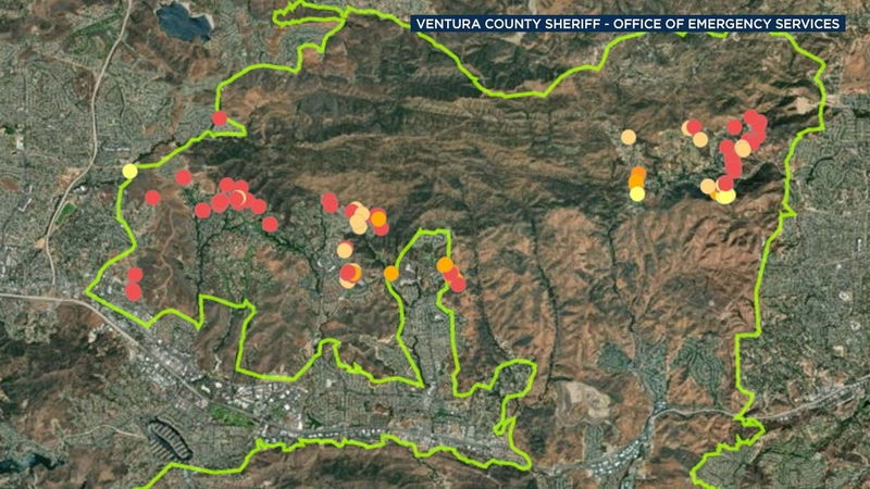 MAP: Homes destro or damaged by Woolsey Fire on rand mcnally map of california, political map of california, topo map of california, geological map of california, printable map of california,