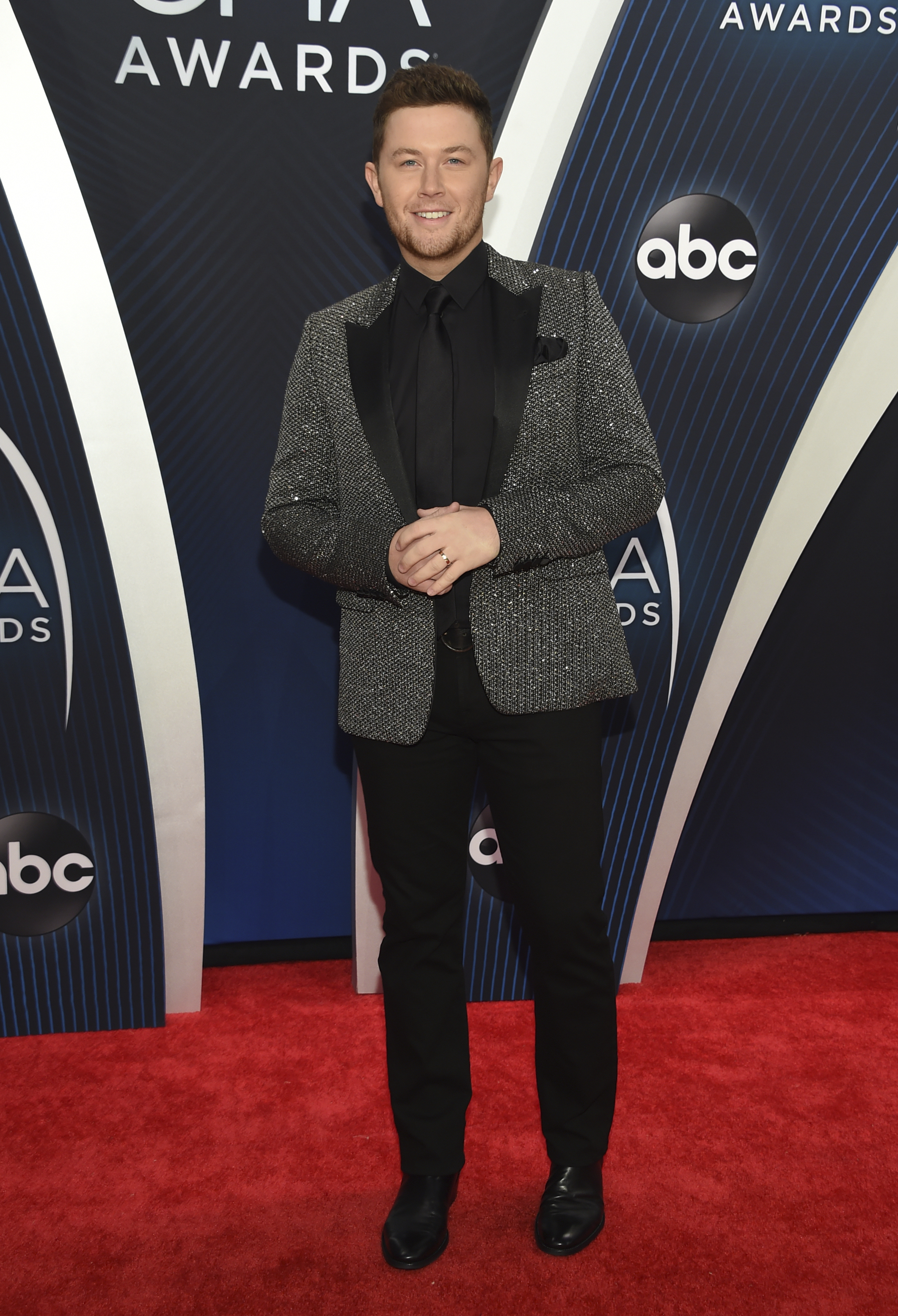 "<div class=""meta image-caption""><div class=""origin-logo origin-image ap""><span>AP</span></div><span class=""caption-text"">Scotty McCreery arrives at the 52nd annual CMA Awards at Bridgestone Arena on Wednesday, Nov. 14, 2018, in Nashville, Tenn. (Photo by Evan Agostini/Invision/AP) (Evan Agostini/Invision/AP)</span></div>"