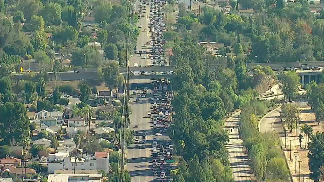 San Fernando Valley Traffic Impacted By Days Long Woolsey Fire