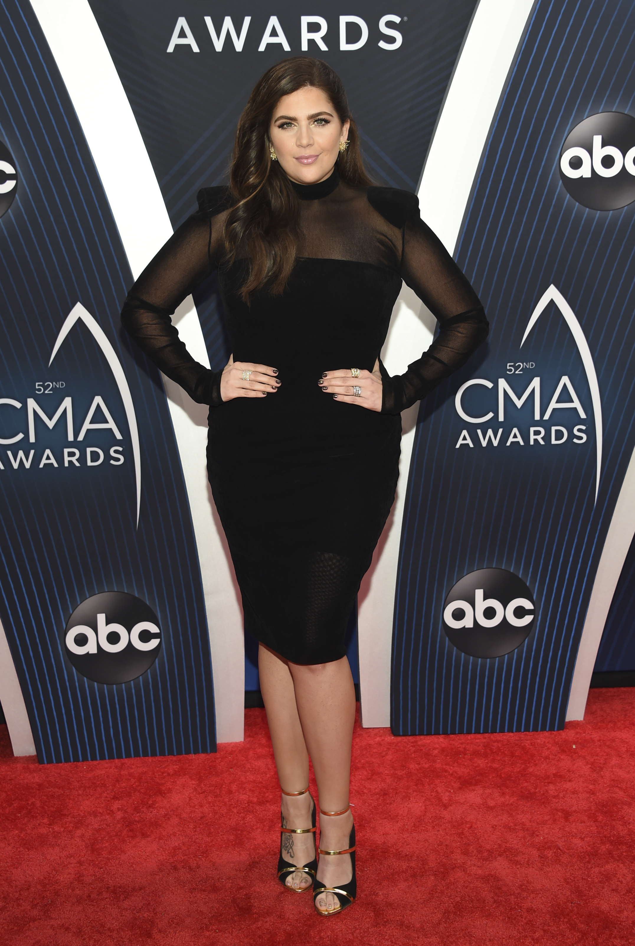 "<div class=""meta image-caption""><div class=""origin-logo origin-image ap""><span>AP</span></div><span class=""caption-text"">Hillary Scott of Lady Antebellum arrives at the 52nd annual CMA Awards at Bridgestone Arena on Wednesday, Nov. 14, 2018, in Nashville, Tenn. (Photo by Evan Agostini/Invision/AP) (Evan Agostini/Invision/AP)</span></div>"