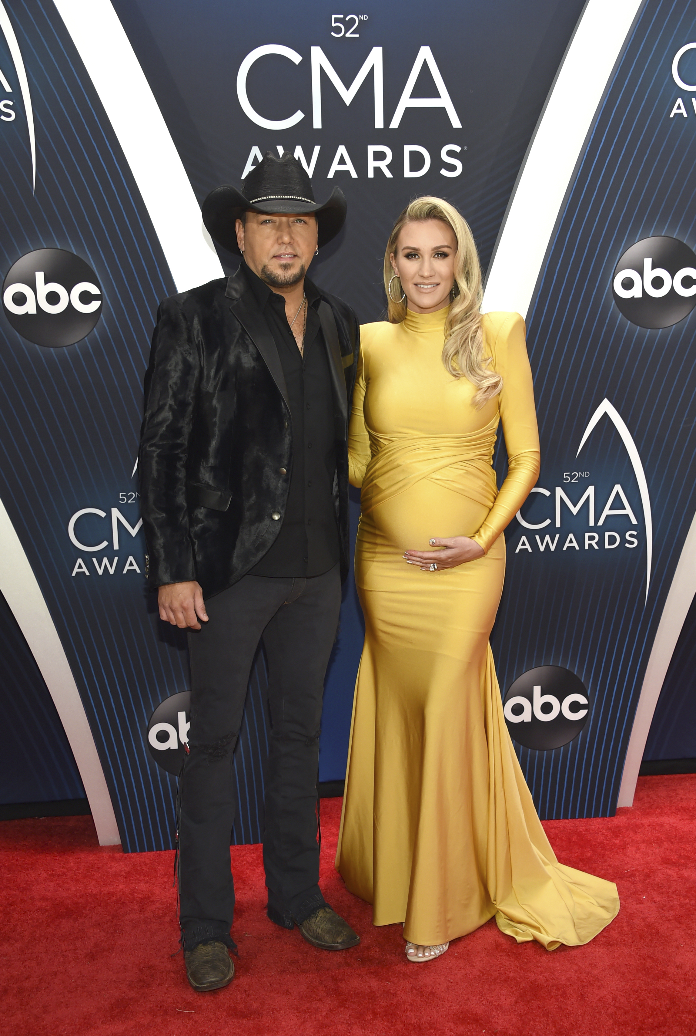 "<div class=""meta image-caption""><div class=""origin-logo origin-image ap""><span>AP</span></div><span class=""caption-text"">Jason Aldean, left, and Brittany Kerr arrive at the 52nd annual CMA Awards on Wednesday, Nov. 14, 2018, in Nashville, Tenn. (Photo by Evan Agostini/Invision/AP) (Evan Agostini/Invision/AP)</span></div>"