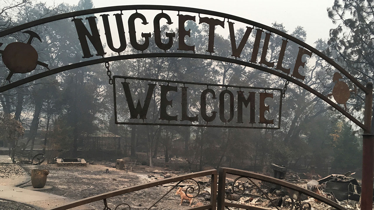 <div class='meta'><div class='origin-logo' data-origin='none'></div><span class='caption-text' data-credit='Martha Mendoza/AP Photo'>The Gold Nugget Museum, which was totally demolished by the Camp Fire, is shown in Paradise, Calif., Wednesday, Nov. 14, 2018.</span></div>
