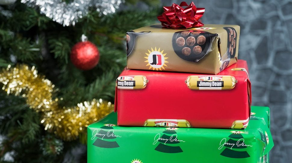 Jimmy Dean giving away sausage-scented wrapping paper for the ...