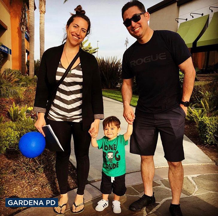 Gardena Police Officer Toshio Hirai died following a motorcycle collision and was survived by his wife Kristen and their 2-year-old son Takeo.