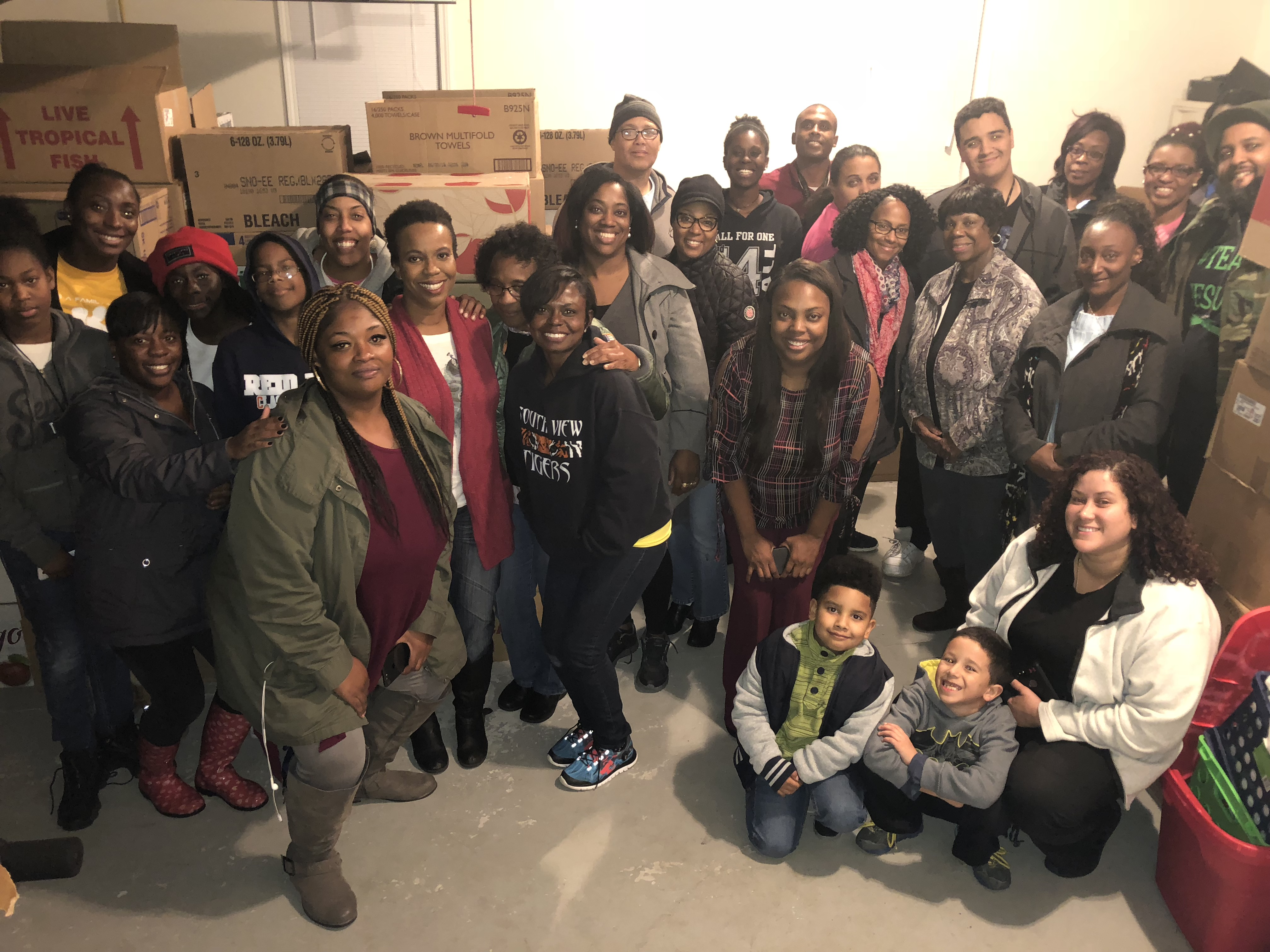 <div class='meta'><div class='origin-logo' data-origin='WTVD'></div><span class='caption-text' data-credit='Akilah Davis'>A group of volunteers is boxing up Thanksgiving meals for families in Cumberland County.</span></div>