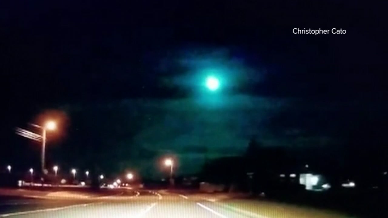 Meteor Captured On Camera Streaking Across Sky In Central