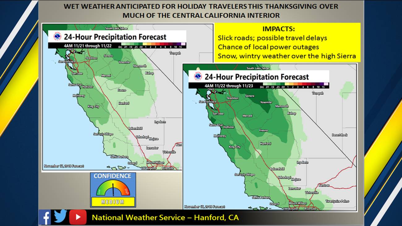 nws expect a rainy thanksgiving weekend two storm systems heading