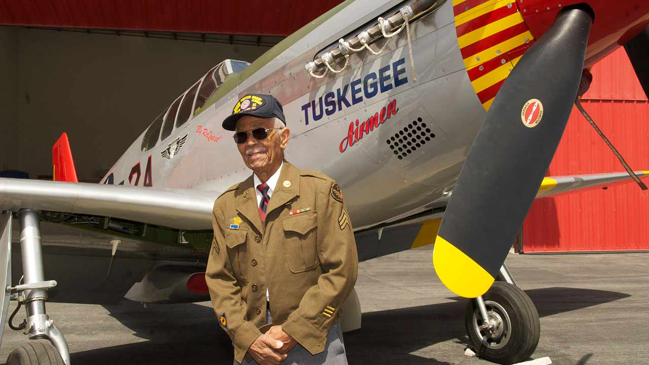"Tuskegee Airmen Clarence E. ""Buddy"" Huntley Jr."