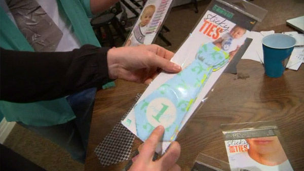 """<div class=""""meta image-caption""""><div class=""""origin-logo origin-image """"><span></span></div><span class=""""caption-text"""">These innovative, wearable stickers caught the eye of Shark Tank producers. (WTVD Photo)</span></div>"""