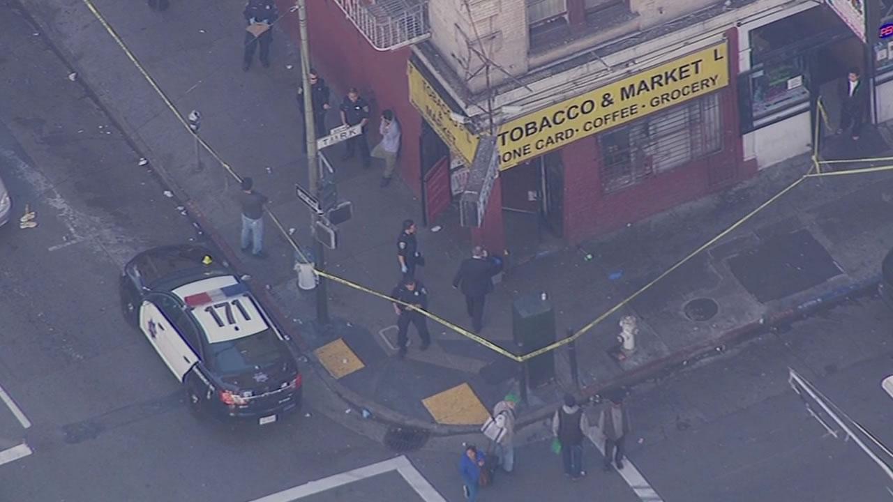 police tape at crime scene