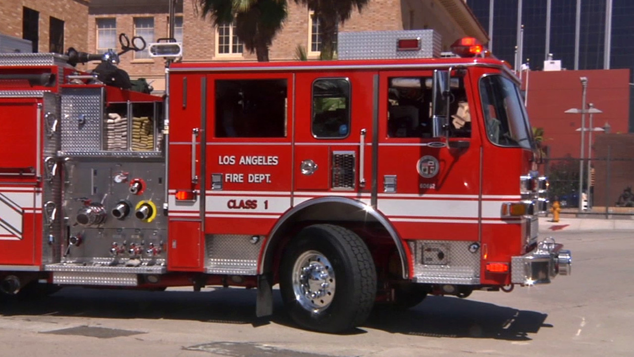 A Los Angeles Fire Department truck is shown in this undated file photo.
