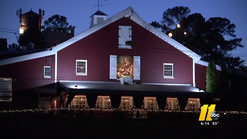 Raleigh's famous Angus Barn steakhouse draws inspiration from Biltmore for holiday decor