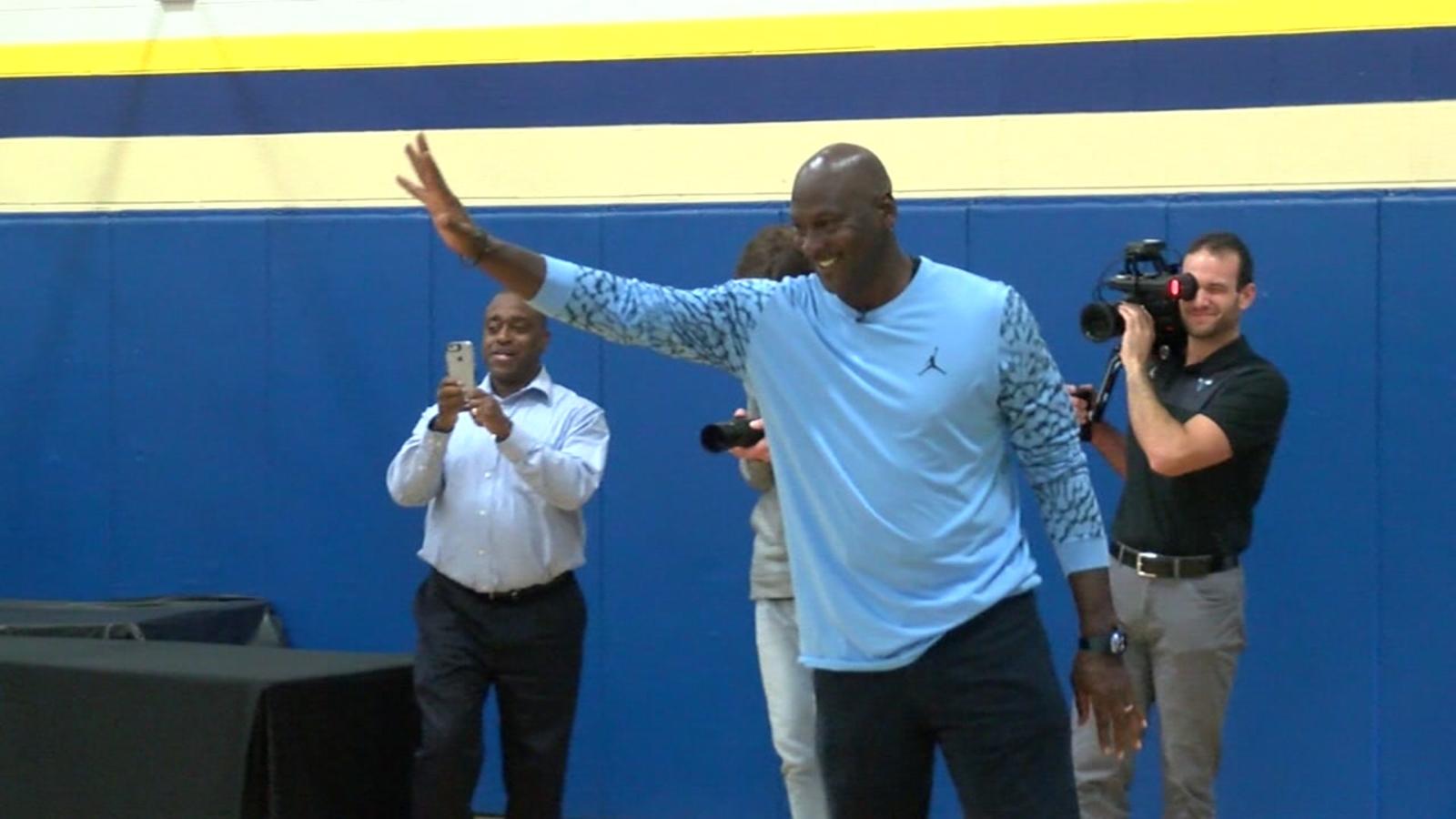 newest 5d651 d9001 Michael Jordan donates 50 pairs of Air Jordans to Wilmington Boys and Girls  Club   abc11.com