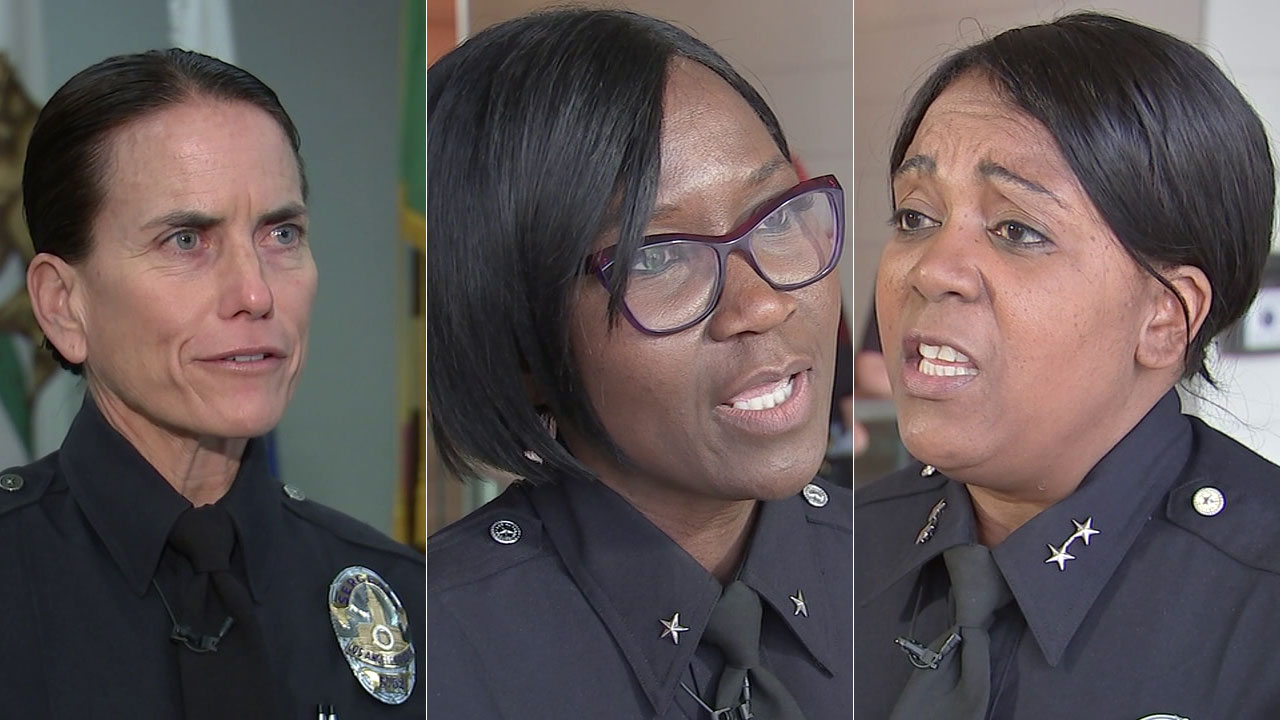 Sgt. Jennifer Grasso (left), Cmdr. Beverly Lewis (middle) and Deputy Chief Regina Scott of the Los Angeles Police Department are leading the charge in the fight against crime.