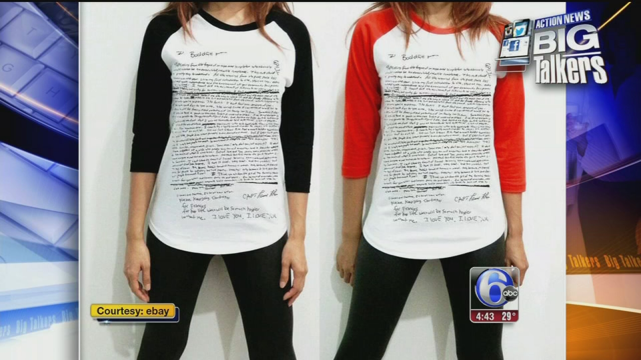 ca108f744 Kurt Cobain suicide note shirts pulled from online shop | 6abc.com