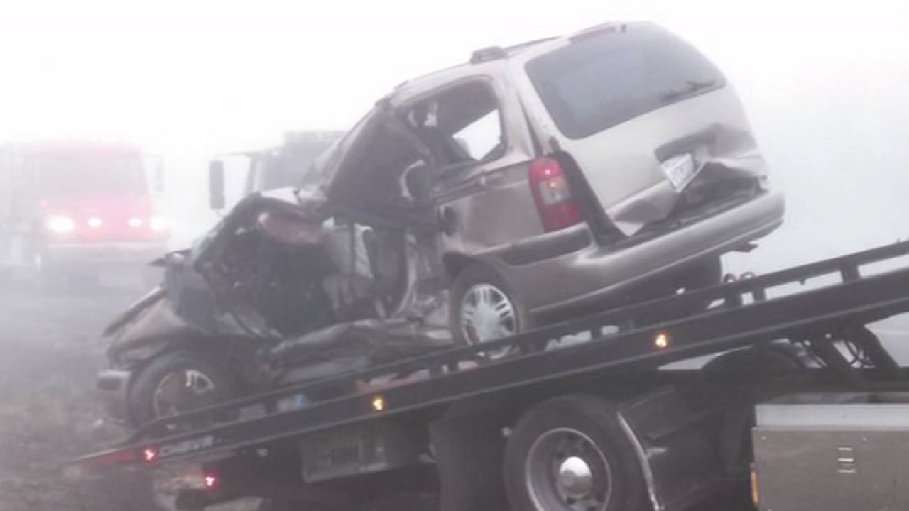 Five farmer workers were killed in a fog-related accident on Highway 4 Tuesday morning.