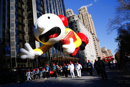 <div class='meta'><div class='origin-logo' data-origin='AP'></div><span class='caption-text' data-credit='AP'>People take part in the 92nd annual Macy's Thanksgiving Day Parade in New York, Thursday, Nov. 22, 2018.</span></div>