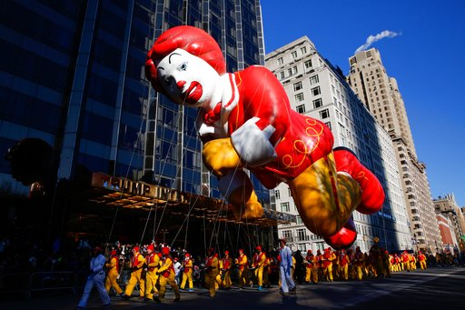 "<div class=""meta image-caption""><div class=""origin-logo origin-image ap""><span>AP</span></div><span class=""caption-text"">People take part in the 92nd annual Macy's Thanksgiving Day Parade in New York, Thursday, Nov. 22, 2018. (AP)</span></div>"