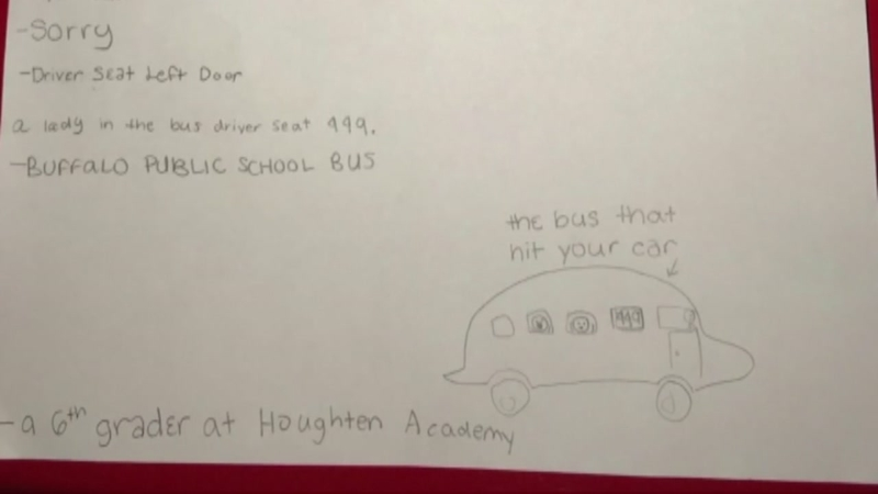 Student Leaves Note On Car Hit By School Bus