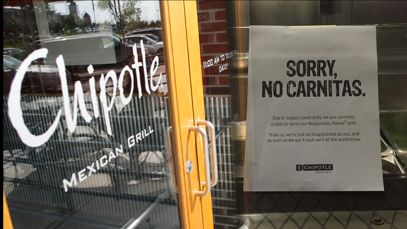 No carnitas sign
