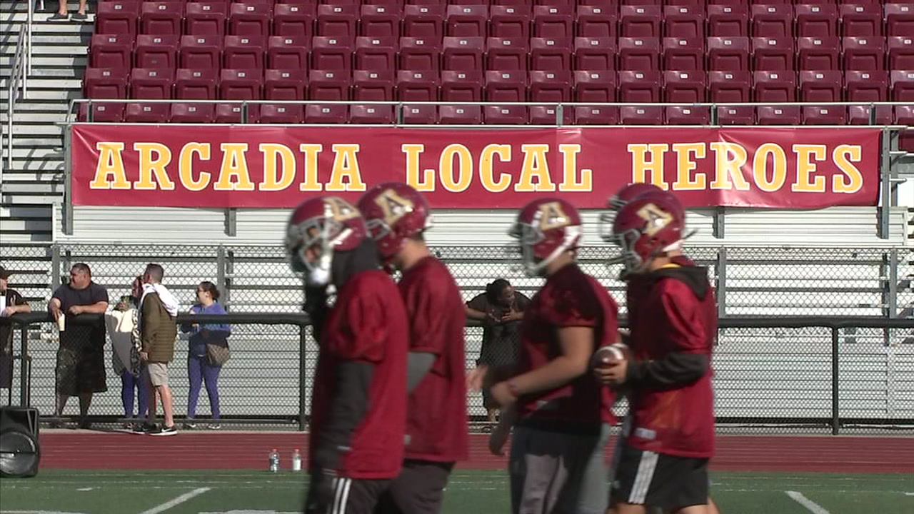 Arcadia High School football team playing in CIF championship game for  first time in 40 years