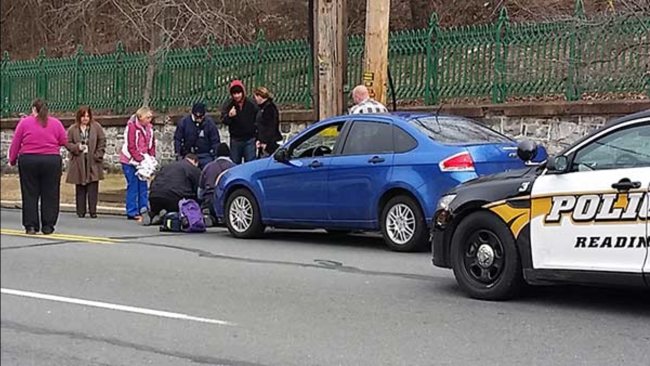 Children hit by car outside school in Reading, Pa.