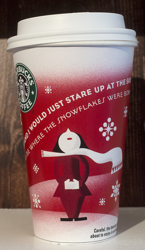 <div class='meta'><div class='origin-logo' data-origin='AP'></div><span class='caption-text' data-credit='AP Photo/Mark Lennihan'>A 2010 Starbucks holiday cup is displayed, Thursday, Nov. 9, 2017, at a Starbucks in New York. The Seattle-based company is celebrating 20 years of holiday coffee cups.</span></div>