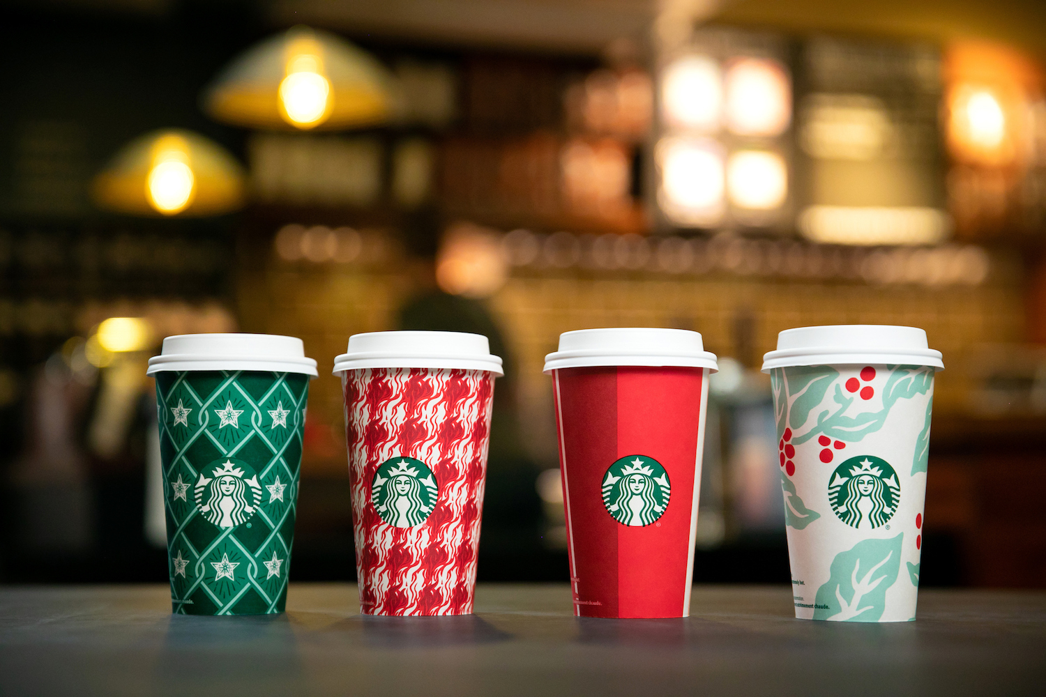 <div class='meta'><div class='origin-logo' data-origin='Creative Content'></div><span class='caption-text' data-credit='Joshua Trujillo/Starbucks'>Starbucks 2018 Holiday Cups shown on Thursday, October 25, 2018, in Seattle.</span></div>
