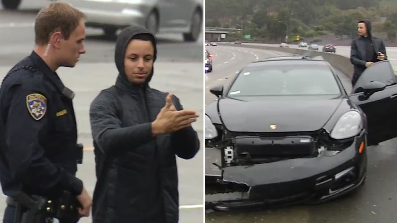 Image result for Stephen Curry involved in a multi car accident!