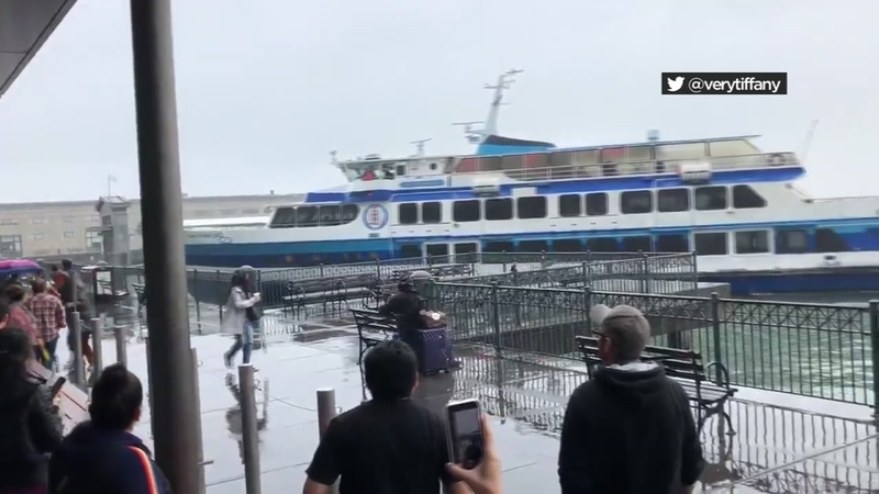 VIDEO: Ferry crashes into dock at SF Ferry building