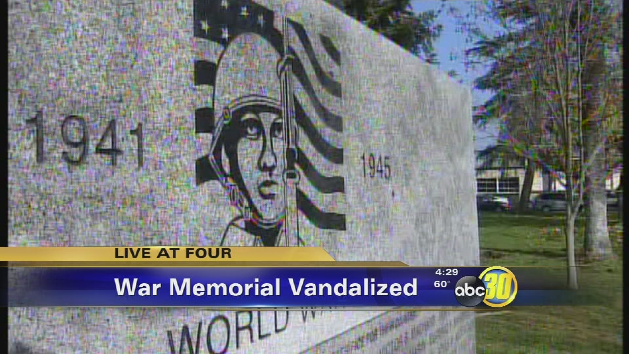 War Memorial In Merced County Vandalized Again Abc30 Fresno