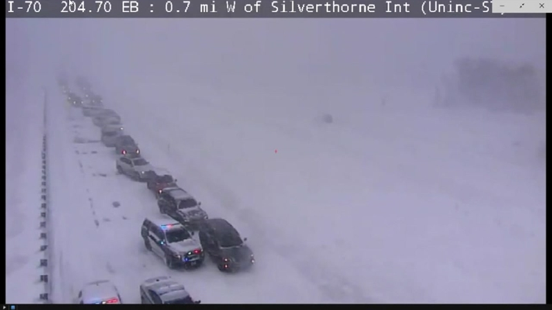 Heavy snow leads to problems along Interstate 70 in Colorado