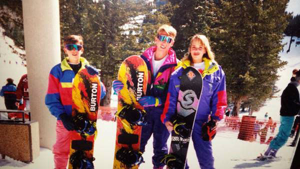 <div class='meta'><div class='origin-logo' data-origin='none'></div><span class='caption-text' data-credit='KTRK Photo'>Ilona Carson snowboarding as a teen with her brothers</span></div>