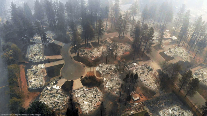 Most destructive California wildfires in history