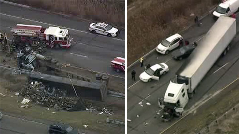 VIDEO: Victim ID'd in fatal I-95 crash in Bensalem