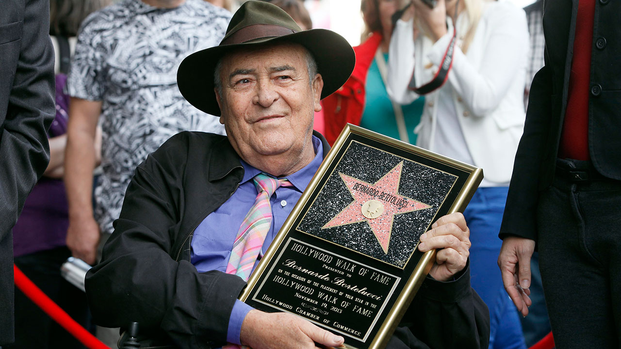 "<div class=""meta image-caption""><div class=""origin-logo origin-image none""><span>none</span></div><span class=""caption-text"">Oscar-winning Italian filmmaker Bernardo Bertolucci died on Monday, Nov. 26, 2018 at age 77. (Nick Ut/AP Photo)</span></div>"