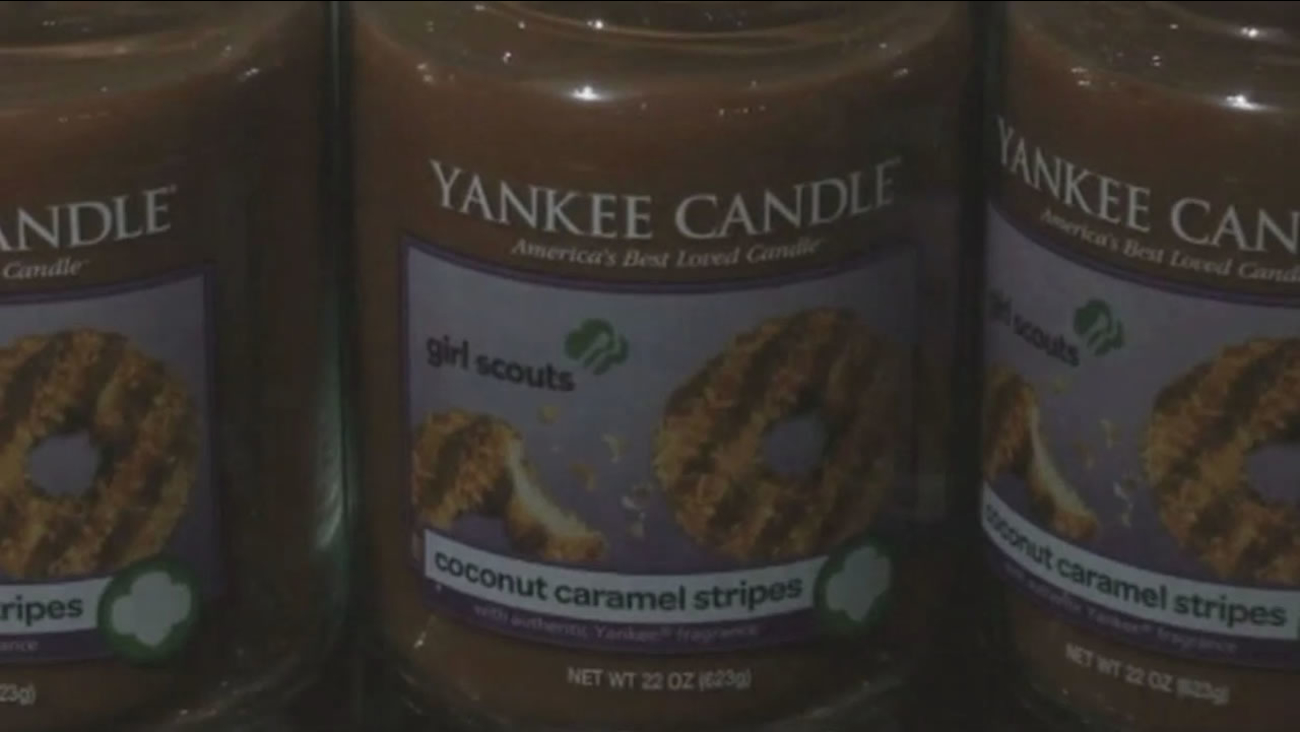 Yankee Candle is starting to sell candles in various Girl Scouts cookie scents.