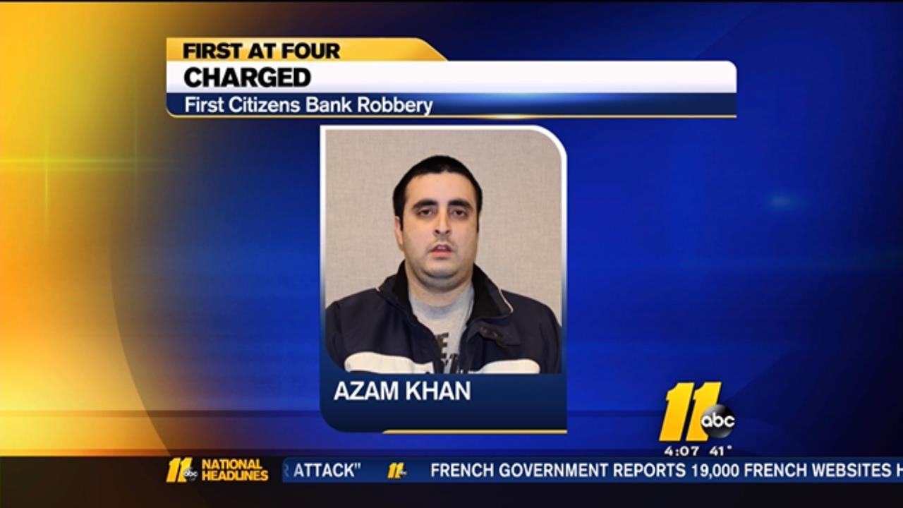 Cary bank robbery suspect Azam Khan