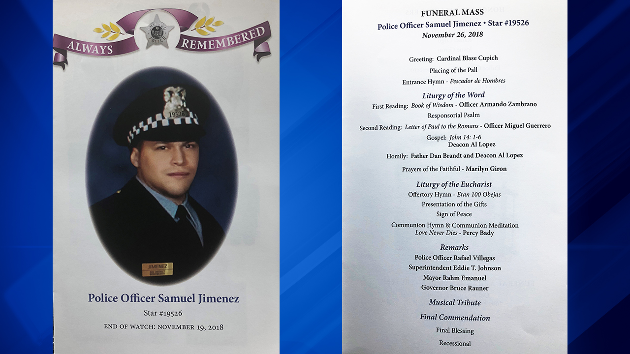 Slain Chicago police Officer Samuel Jimenez remembered during