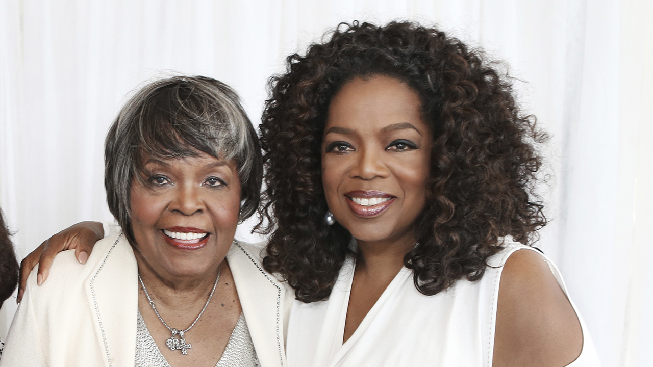<div class='meta'><div class='origin-logo' data-origin='AP'></div><span class='caption-text' data-credit='George Burns/Harpo Inc. via AP'>This image released by Harpo Inc. shows media mogul Oprah Winfrey, right, with her mother Vernita Lee. Lee died on Thanksgiving 2018 at age 83.</span></div>