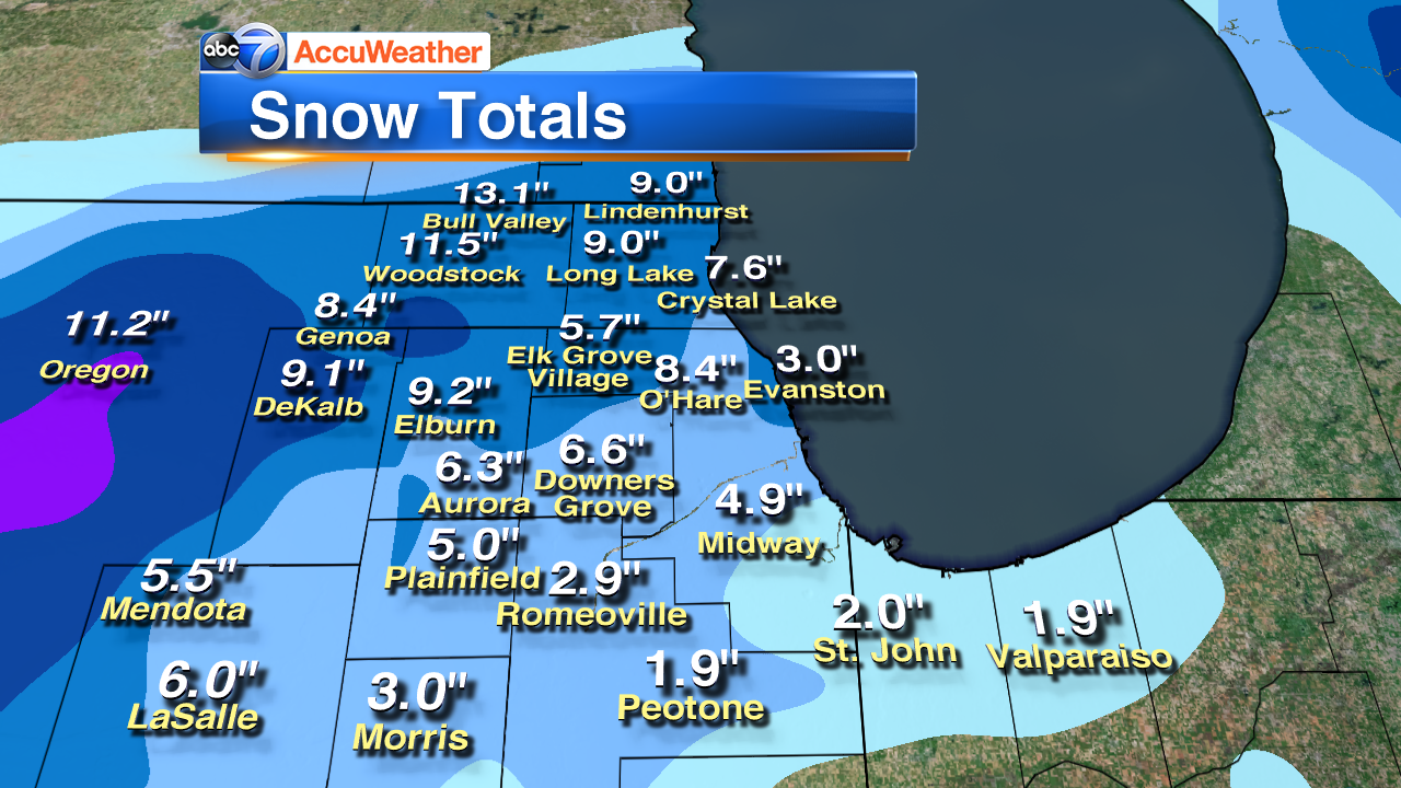 Suburban Chicago Map.Chicago Weather After Snowstorm Temperatures To Drop To Single