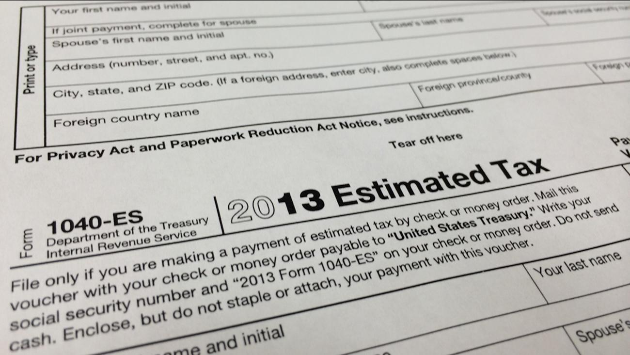 1040-ES IRS Estimated Tax form